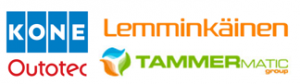 kone, lemminkäinen, outotec ja tammermatic logot